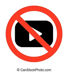 No Play button sign.