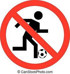 No play or football sign, vector illustration