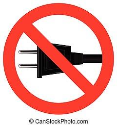 No Plug Symbol