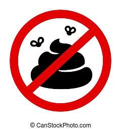 No poop prohibition sign