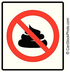 No poop vector sign illustration isolated on white background