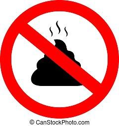 No poop vector sign