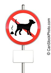 No Poop Zone Traffic Sign Dogs
