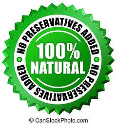 No preservatives added label