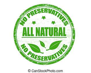 No preservatives - Natural stamp - Grunge rubber stamp with...