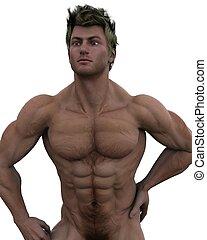 no pretense - a male model of fitness