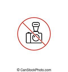 no professional  photo prohibition sign on white background
