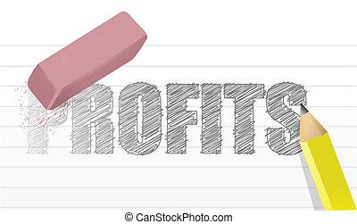 no profits concept illustration design