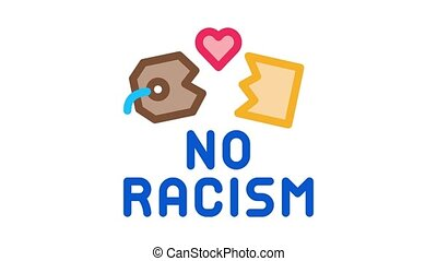 no racism torn label Icon Animation