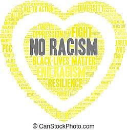 No Racism Word Cloud