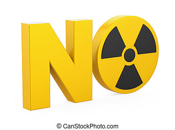 """NO"" Radiation Sign Isolated"