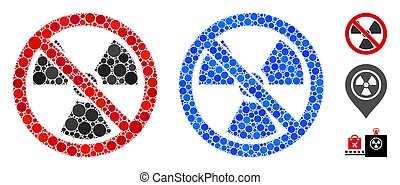 No Radioactive Mosaic Icon of Circle Dots