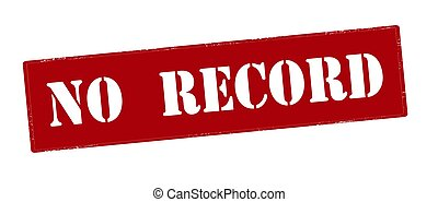 No record - Rubber stamp with text no record inside, vector...