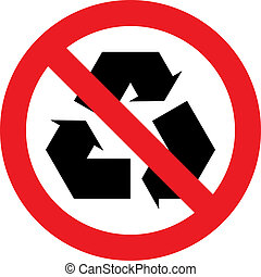 No recycling sign