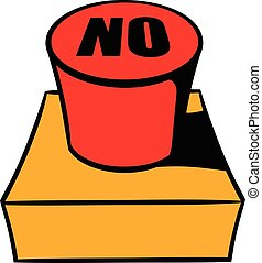 No red button icon cartoon