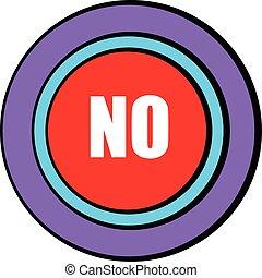 No red button icon cartoon