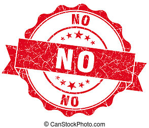 no red grunge seal isolated on white