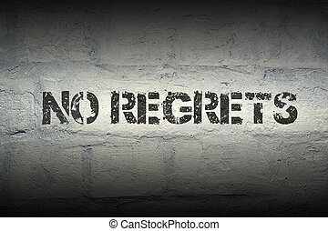 no regrets GR