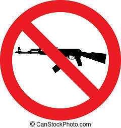 No rifle sign