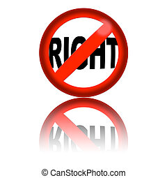 No Right Sign 3D Rendering - 3D sphere no right sign with...