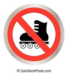 No roller skates icon.