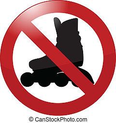 no rollerbladading sign