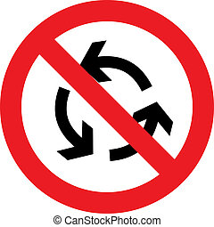 No roundabout sign