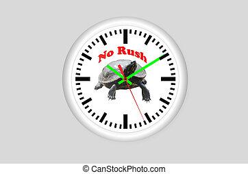 No Rush, turtles clock