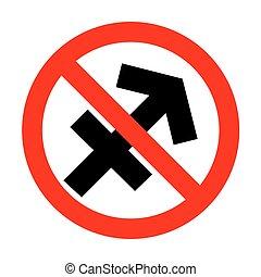 No Sagittarius sign illustration.