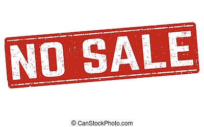 No sale. Stamp with text no sale inside, vector illustration.