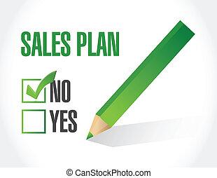 no sales plan concept illustration design