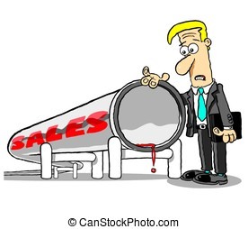 No sales.WBG. - Sales leads dry up for sad salesman; on...
