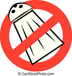 No salt symbol isolated on white background. Vector...