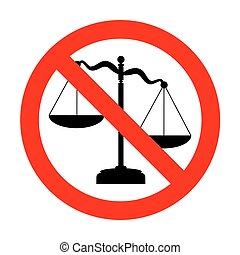 No Scales of Justice sign.