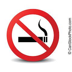no, señal, fumar