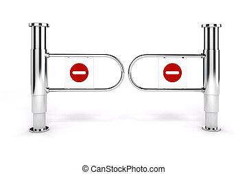 no, señal, salida, plano de fondo, msll, torniquete, blanco...