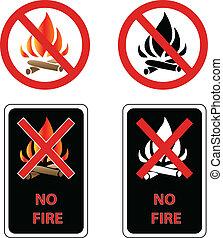 no, segno, fuoco