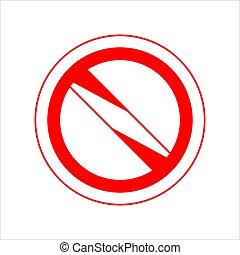 no, segno, proibito, segno bianco, bando, vuoto, conceduto, non, rosso