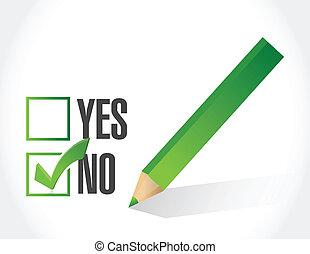 no selection on a check list illustration design
