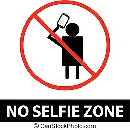 No selfie zone sign.EPS10