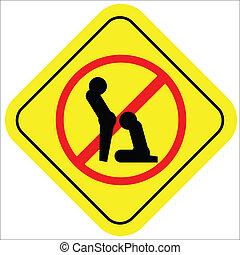 No sex sign!!