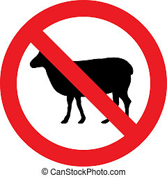 No sheeps sign