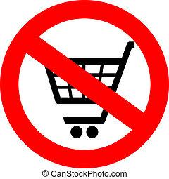 No shopping cart
