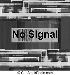 No signal, Abstract images television signals