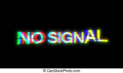 No Signal Glitch 90 Tv screen 4k