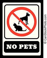no, signo., no permitido, icono, mascotas