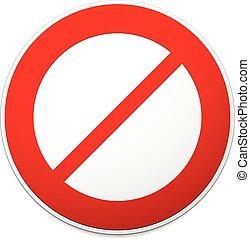 no, signo., prohibición, vector, restricción, manera,...