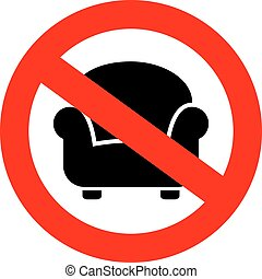 No sitting sign