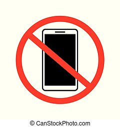 no smartphone sign icon