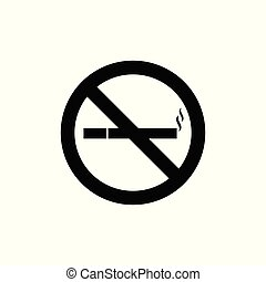 no smoke sign black and white vector